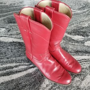 Justin Lipstick Red Roper Boots🤩😍